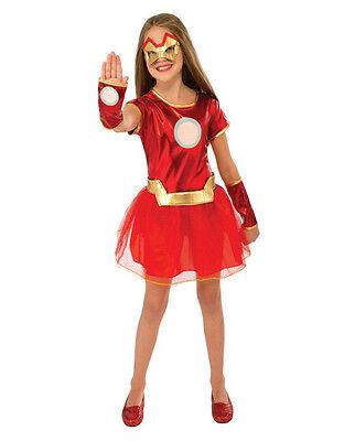 Girl Iron Man Costume (Iron Man Kids Girl Rescue Dress Costume,Small, Age 3 - 4, HEIGHT 3' 8