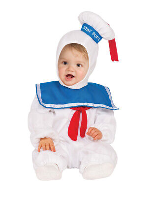 Kids Stay Puft Marshmallow Man Romper Costume XS  Age 3 - 4 Height 111-122cm](Marshmallow Man Costume Kids)