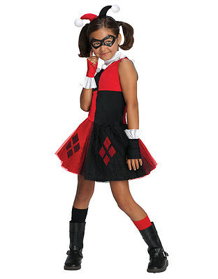 "Harley Quinn Kids Girl DC Supervillian Costume,Med,Age 5-7,HEIGHT 4' 2""- 4' - Supervillian Costumes"