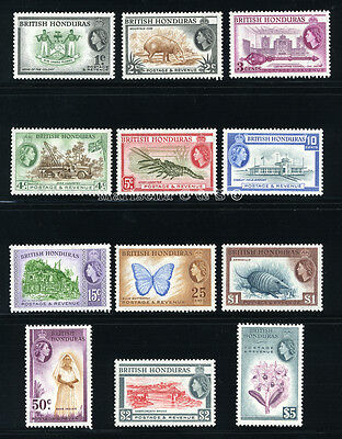 BR. HONDURAS 1953 SG 179-190 SC 144-155 VF OG MLH * RARE COMPLETE SET 12 STAMP