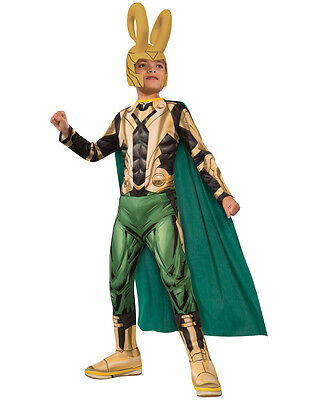 Loki Costume, Kids Avengers Outfit, Large, Age 8 - 10, HEIGHT 4' 8