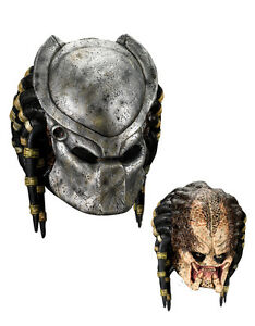 Alien v Predator Costume Mask, Mens Predator Full Mask with Face Plate