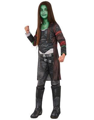 Kid's Gamora Guardians Galaxy 2 Deluxe Costume M Age 5-7 Height 127-137 - Gamora Costume