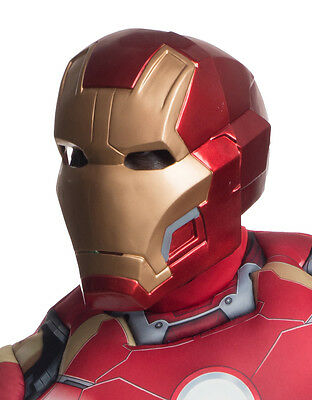 Iron Man Mark 43 Deluxe 2 Piece Mask, Mens Costume Full Mask, Age 14+ ()