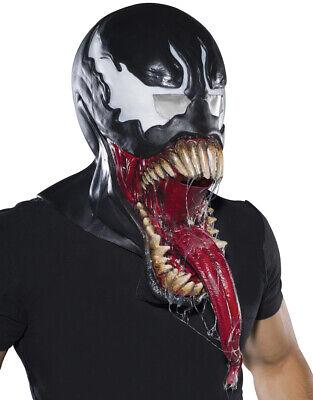 Villian Costume (Venom Deluxe Latex Mask, Mens Marvel Comics Villian Costume)