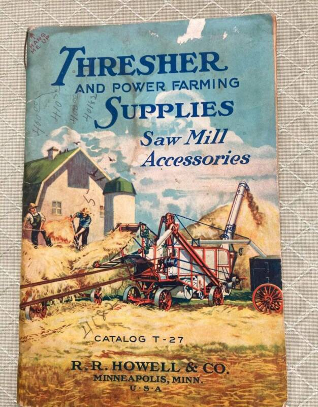 Vintage 1927 Thresher & Power Farming Supplies Saw Mill Accessories Catalog T-27