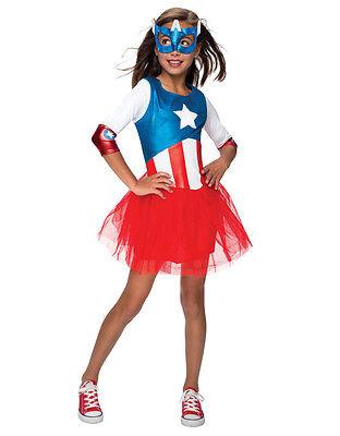 Captain America Dlx Girl  Dress Costume Toddler Age 1-2 Height  88-99 cm (Toddler Girl Captain America Costume)