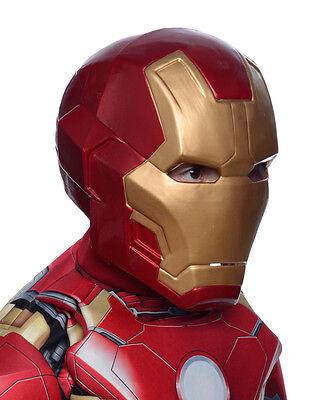 Iron Man Mark 43 Deluxe 2 Piece Mask, Kids Avengers Costume Full Mask, Age - Ironman Kostüm Kid