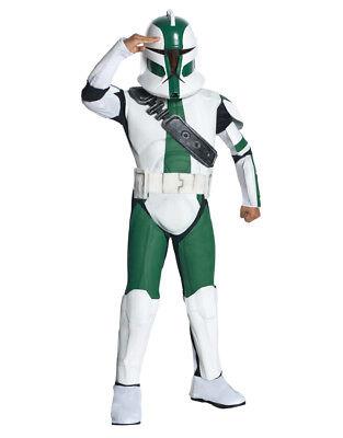 Star Wars Kid Clone Trooper Commander Gree Costume,M,Age 5-7, Height 127 - 137cm