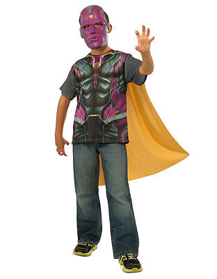 Vision Shirt Accessory Kit, Kids Avengers Age Of Ultron Outfit, Large,Age 8 - 10 ()