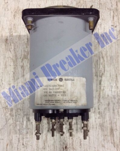 10329ARHC7DNC General Electric RTG 5 Amp 120 Volt Varmeter
