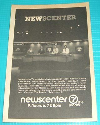 1985 Whio Dayton Ohio Tv News Ad Newscenter Miami Valley Channel 7