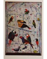 Jutta Votteler, Uccello, Grafica Originale -  - ebay.it