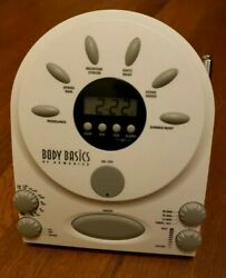 Body Basics by Homedics Alarm Clock With Relaxing Nature Sounds/White Noise