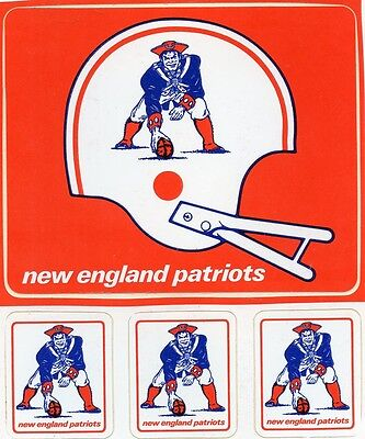 NEW ENGLAND PATRIOTS VINTAGE RARE STICKER - STICKERS  DECAL  1970'S MINT