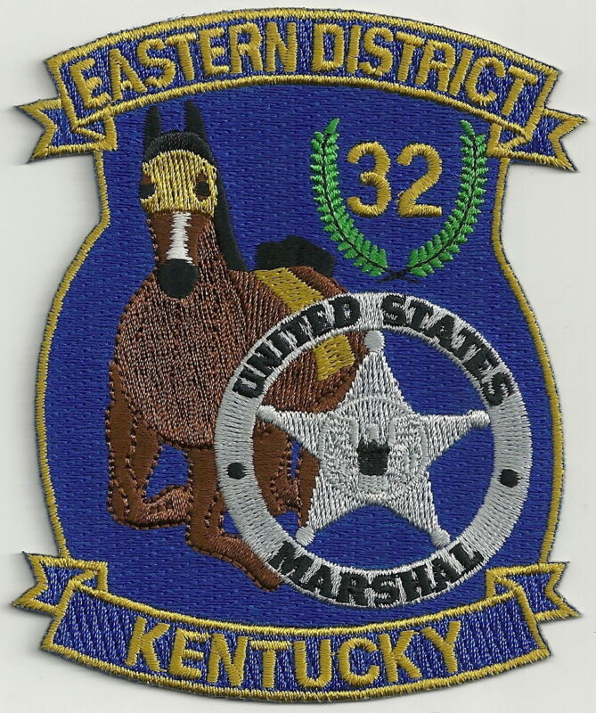 UNITED STATES MARSHAL EASTERN DISTRICT KENTUCKY DISTRICT SHOULDER PATCH