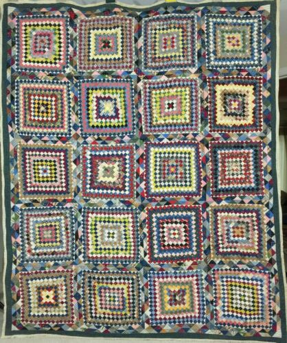 Antique Postage Stamp Many Trips. Collector Quilt  C1910