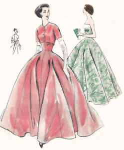 Vintage 1950's Sewing Pattern Vogue Evening Ball Gown & Bolero B 31