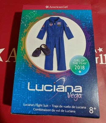 American Girl Lucianas Flight Suit Blue Nasa New In Box  Luciana Vega