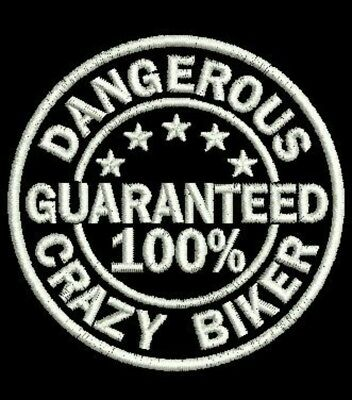 "/""Dangerous Crazy Triker/"" Trike Patch"