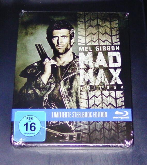 MAD MAX 1 - 3 TRILOGIE UNCUT  LIMITIERTE STEELBOOK EDITION BLU RAY NEU & OVP