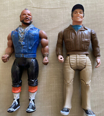 "x2 1983 Vintage The A-Team Figures Galoob Cannell Prod. 6"" Murdoch & B.A. Mr T"