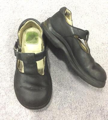 Stride Rite TT Penny School Girls Leather Shoes 8 Wide Fit Black T Strap Smart