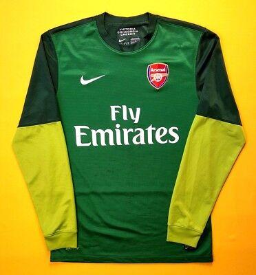 20213fa25 4 5 Arsenal goalkeeper jersey small 2006 2007 shirt 479307-302 soccer Nike  ig93