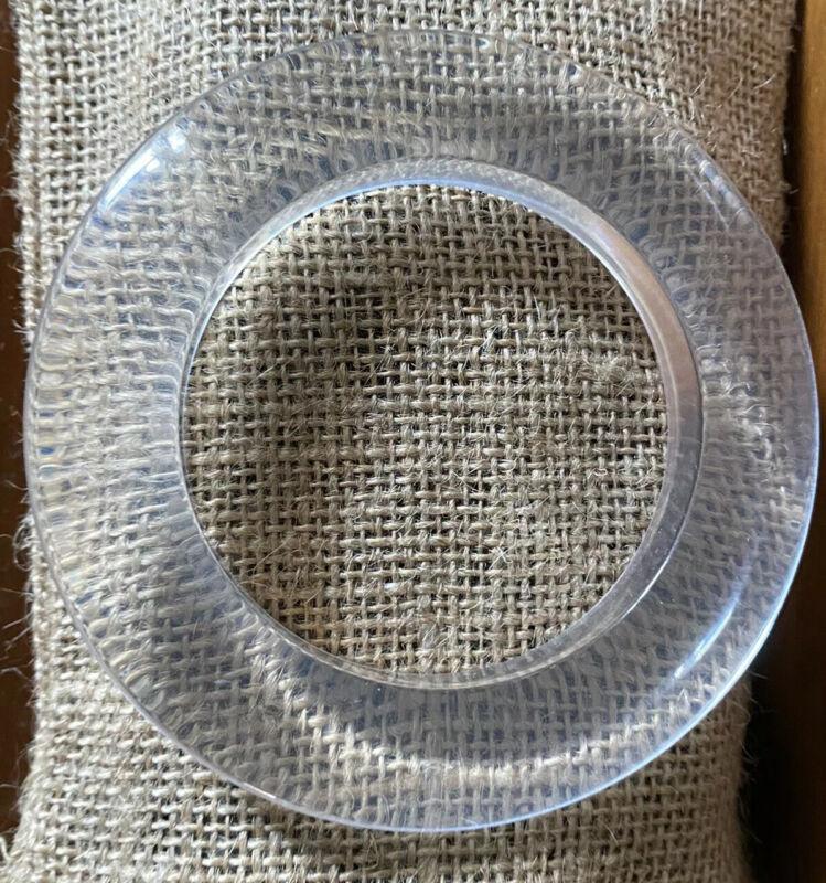 Vintage Clear Lucite Resin Bangle Bracelet