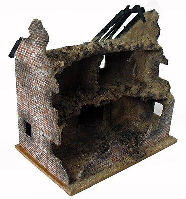 Ruine 4  zerstörtes Haus/Gebäude/Diorama für 1:72/76   Handarbeit