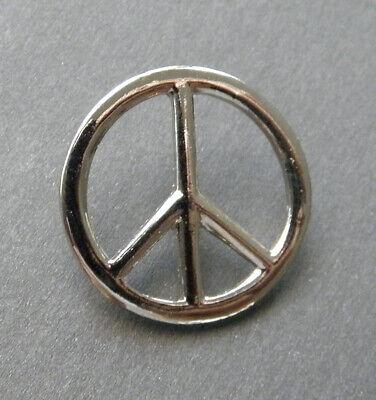 Peace Sign Silver Colored Cutout Lapel Pin 7/8 inch](Peace Sign Cutouts)