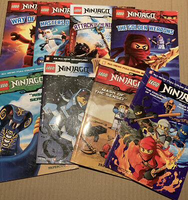 Lot of 8 LEGO NINJAGO BOOKS Papercut Scholastic Masters of Spinjitzu Ninja