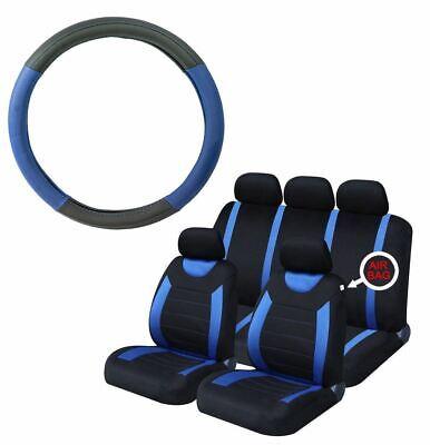 UKB4C Grey /& Black Steering Wheel /& Seat Cover set for Dodge Nitro All Years
