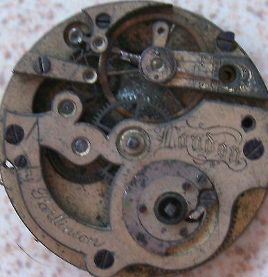 Parkinson old pocket watch movement key wind 37,5 mm. in diameter