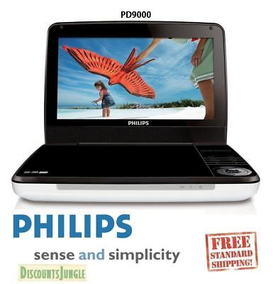 Philips PD9000/37 9-Inch LCD Portable DVD Player 5 Hour Battery White/Black