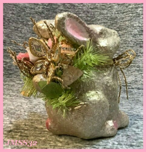 Pier 1 Imports Capiz Gold Bunny Flower Butterfly Egg Spring Easter Decor NWT