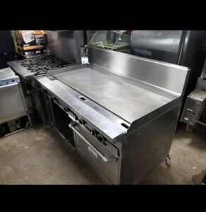 5ft Thermostat Controlled Garland Griddle with oven and storage