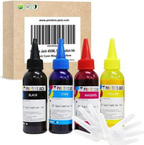 Printers Jack 400ML Sublimation Ink Refill For Epson C88 C88+ WF7710 ET2720 On