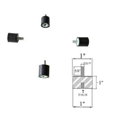 4 Rubber Vibration Isolator Mounts 1 Dia X 1 Ht 516-18 X 58 Length Stud