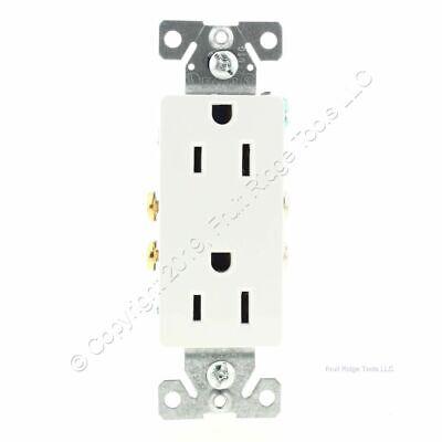 Eaton White Decorator Receptacle Duplex Outlet NEMA 5-15R 15A 125V 1107W Boxed Duplex Ac Outlet