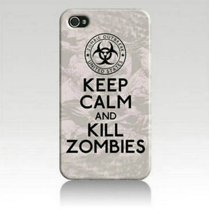 KEEP-CALM-AND-KILL-ZOMBIES-Art-Printed-iPhone-5-5s-Case-for-iPhone-5s