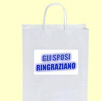 50 Wedding Bags Gli Sposi Ringraziano Acqua 006 Bomboniere Matrimonio + Omaggio -  - ebay.it