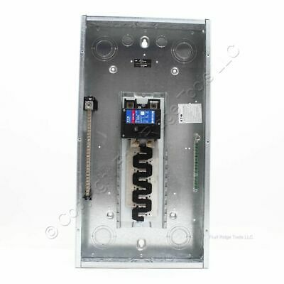 Eaton Br1632b200g Br 16-space 32-circuit Main Breaker Panel 200a White Cover