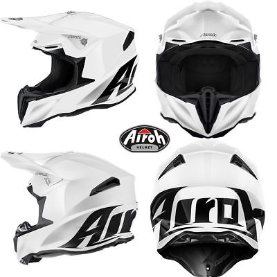 TW14 CASCO INTEGRALE AIROH TWIST BIANCO TG XS S M L XL CROSS ENDURO OFF ROAD