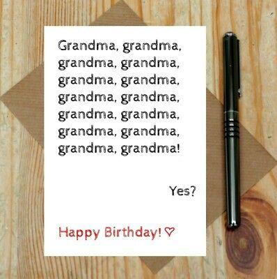 Grandma card - Grandma birthday card - funny grandma card - joke birthday card - Funny Grandma Cards