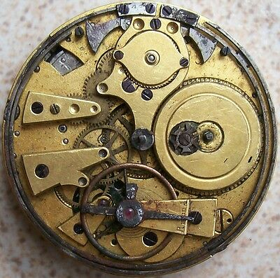 (Repeater Key Wind Pocket Watch movement & dial 47 mm. in diameter balance Ok.)