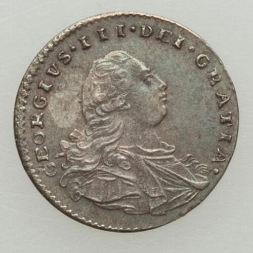 Great Britain 1800 George III 4-Piece Maundy Set, AU Ochre, green & blue TONE