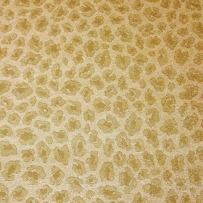 Ballard Designs Chenille Desert Leopard Animal Upholstery Fabric By The Yard