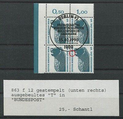 BERLIN ABART 863 f12 ER-4er-Block TOP! SCHANTL 25.- m374