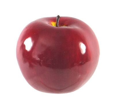Artificial Jonathan Nova Apple Large Shiny Plastic Fruit Round Red Apples Fake